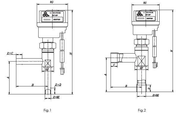 Electronic Expansion Valve O Series . Dimensions