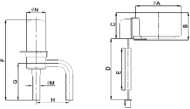 Electronic Expansion Valve series DPF-T/S . Flow characteristic