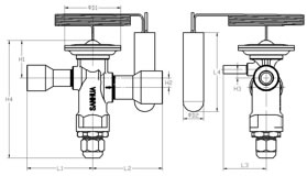 Thermal Expansion Valve RFGB Series . Dimensions