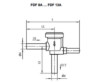 Solenoid Valve FDF Normally Close Series . Equipped with FQ-A05 Series Coil