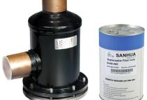 Filtro secador con núcleo recambiable